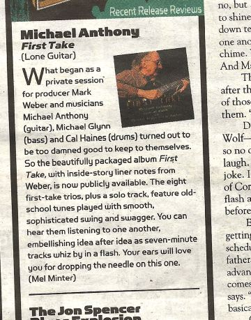First Take - Live at KUNM CD - Alibi Review
